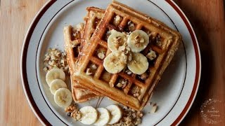 Easy & Healthy Banana Waffles Recipe | The Sweetest Journey
