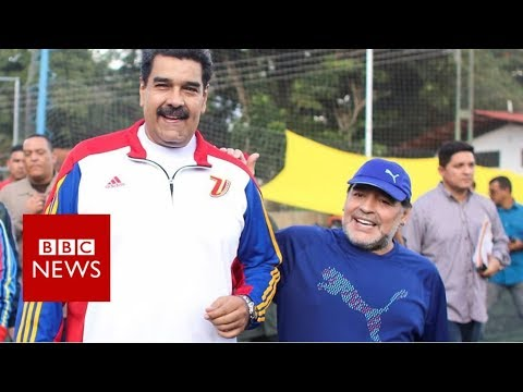 Maradona and Maduro in Venezuela kickabout - BBC News
