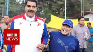 Maradona and Maduro in Venezuela kickabout - BBC News