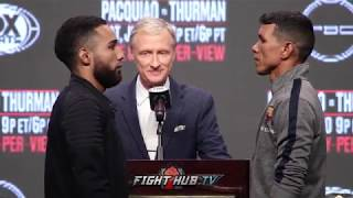 LUIS NERY AND JUAN CARLOS PAYANO FACE OFF AT THE PACQUIAO VS THURMAN FINAL PRESS CONFERENCE