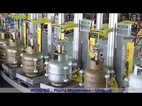 Acodike (Montevideo - Uruguay) LPG filling plant equipped with Siraga machines