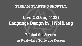 Live CEOing Ep 422: Language D…