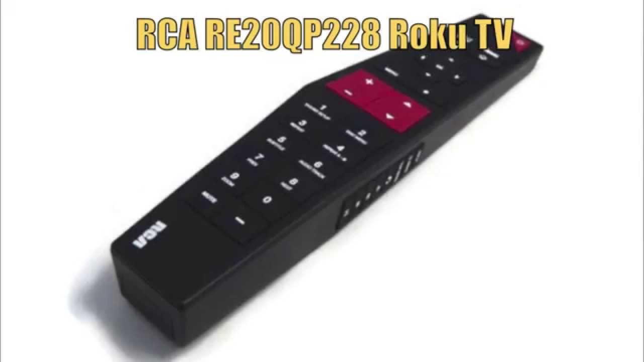 Rca Re20qp228 Roku Tv Remote Control Replacementremotes