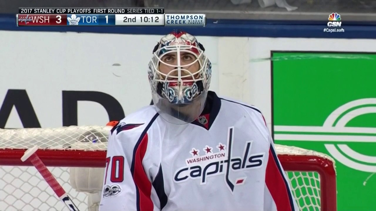 Braden Holtby Makes A Unreal Poke Check At The Blue Line Youtube