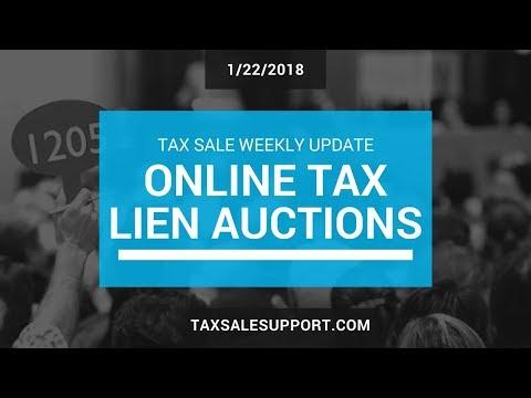 Online Tax Lien Auctions! TaxSaleSupport.com (1/22/18)