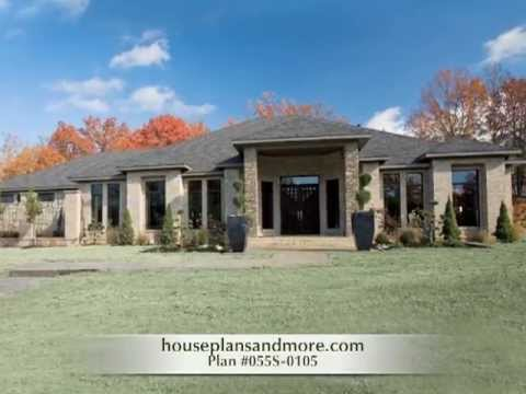 Luxury homes video 3 house plans and more youtube for Single story luxury house plans