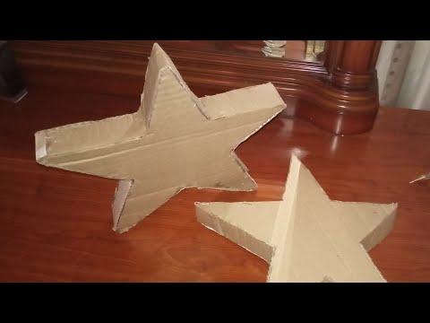 Объемная звезда из картона