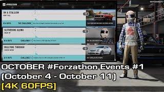 Forza Motorsport 7 - October #Forzathon Events #1 (October 4 - October 11) [4K 60FPS]