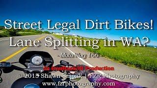 Street Legal Dirt Bikes! - Lane Splitting in WA? | Iron 883 | MotoVlog 166