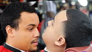 EXTREMELY HARD! HOW TO FIX A RECEDING LINE UP/ BARBER TUTORIAL