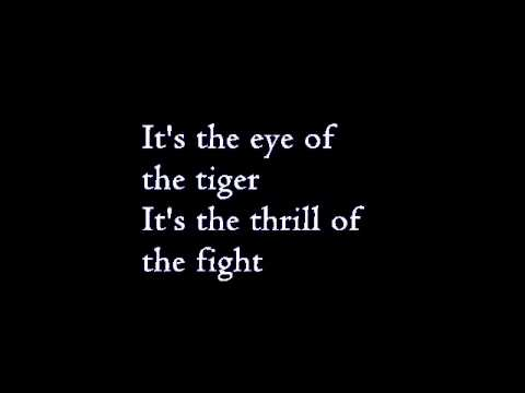 the glee project 2 the eye of the tiger lyrics youtube. Black Bedroom Furniture Sets. Home Design Ideas