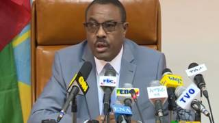 ETHIOPIA - Prime Minster Hailemariam Desalegn Press brief - Part 1 |  April 20, 2017