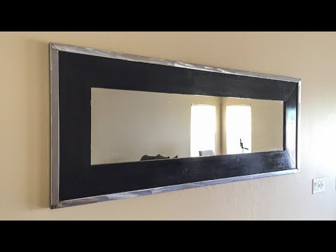 DIY Framed Mirror // Welding and Woodworking