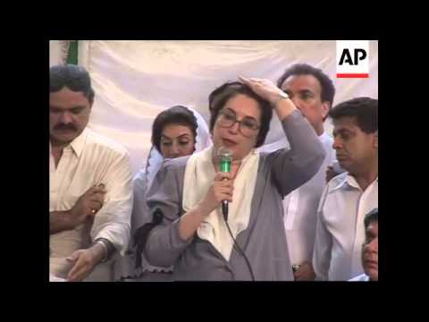 WRAP Bhutto on Karachi attack ADDS more excerpts of presser
