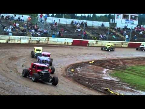 dwarf car fair benefit race 1 River City Speedway 7-18-12