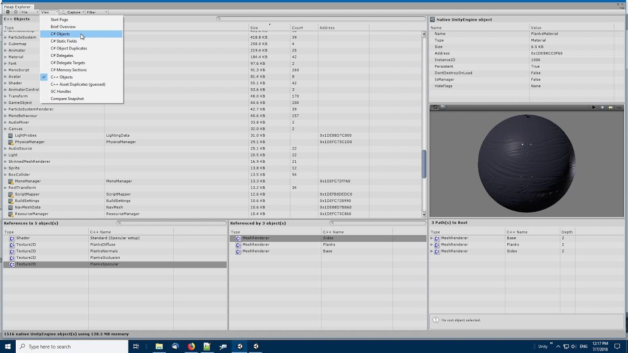 Heap Explorer - Memory Profiler, Debugger and Analyzer for Unity