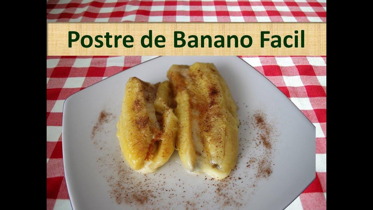 Postre de banano receta casera facil y rapida youtube - Cocina casera facil y rapida ...