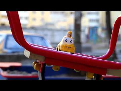 Musical toy car travel. Kids music.
