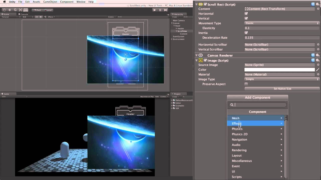 UI Scroll Rect - Unity Official Tutorials