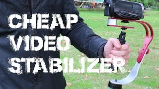 CHEAP VIDEO CAMERA STABILISER - Roxant Pro with Test Footage Comparison