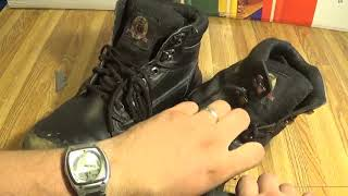 Breaking down two steel toes (ONE SMASHED BY FORKLIFT AND ONE UNSMASHED)