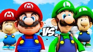 MARIO vs LUIGI - Baby Mario VS Baby Luigi