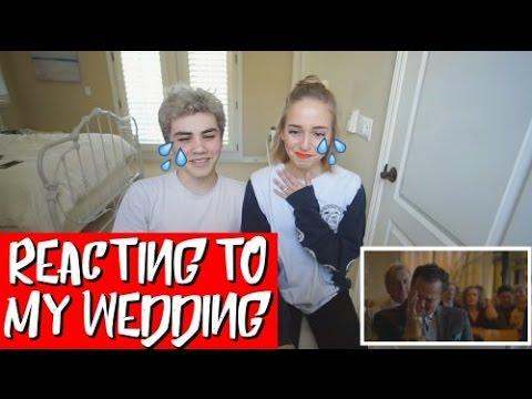 REACTING TO MY WEDDING VIDEO!
