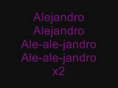 Lady GaGa- Alejandro (Lyrics)