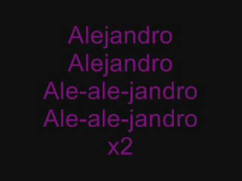 Lady GaGa Alejandro Lyrics
