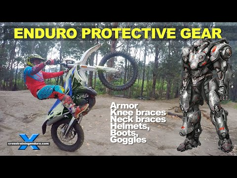 WHICH ENDURO PROTECTIVE GEAR? Armor, boots, helmets, neck braces, knee braces, goggles