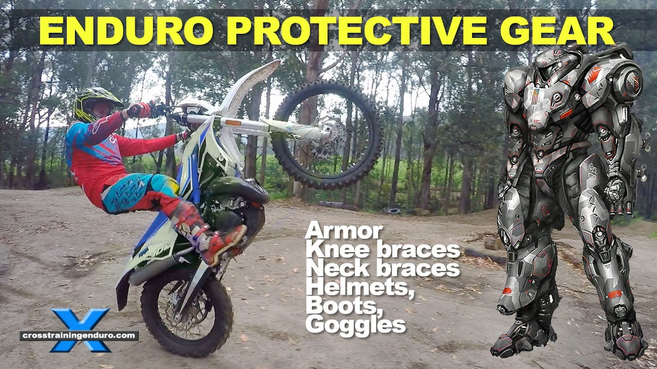 Which enduro protective gear armor boots helmets neck for Motor cycle without gear
