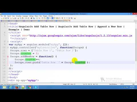 Add or Remove Table Rows Dynamically in AngularJS