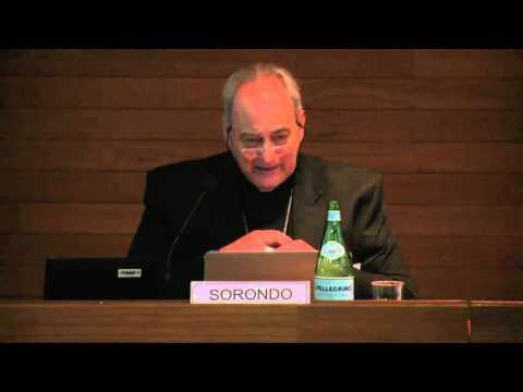 """6- Marcelo Sàncez Sorondo Conf.""""Per l'Economia della Terra la nostra casa comune"""" 19/2/16"""