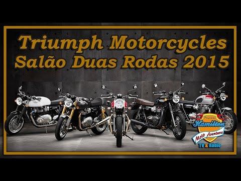 Stand da Triumph Motorcycles Salão Duas Rodas 2015