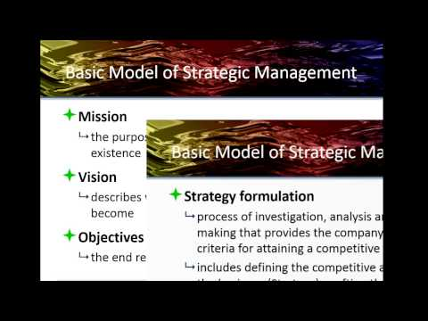 Concepts of Strategic Manangement ch1