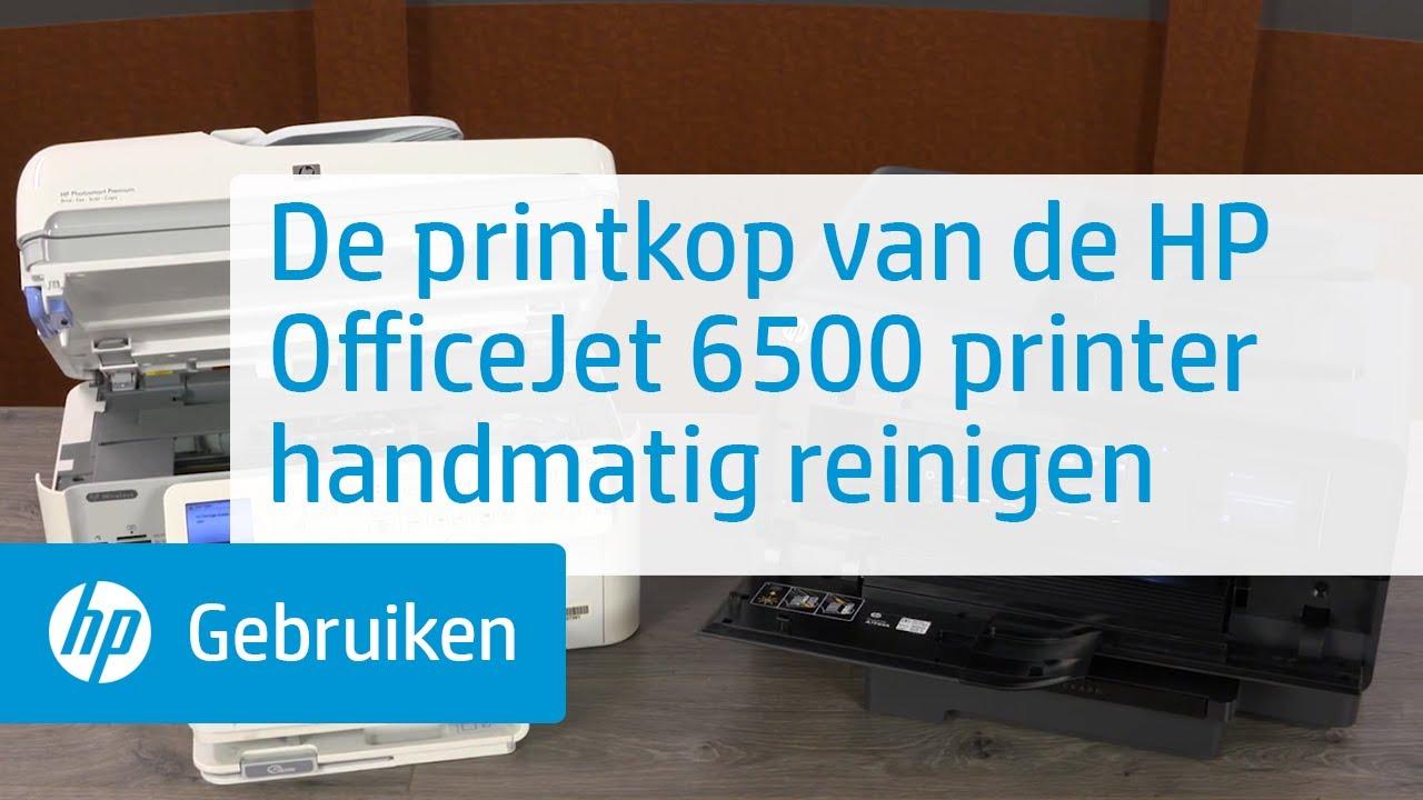 De Printkop Van De Hp Officejet 6500 Printer Handmatig