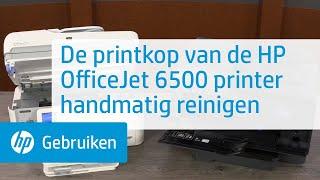 De printkop van de HP OfficeJet 6500 printer handmatig reinigen