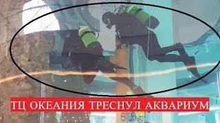 """В Москве """"треснул"""" аквариум на миллион литров в ТЦ Океания"""