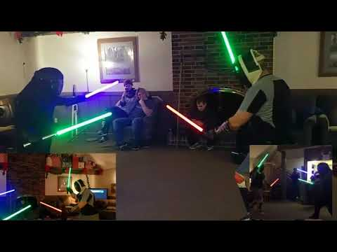 HEMA, Eskrima, Lightsabers! (A for-fun open spar combat mashup!)