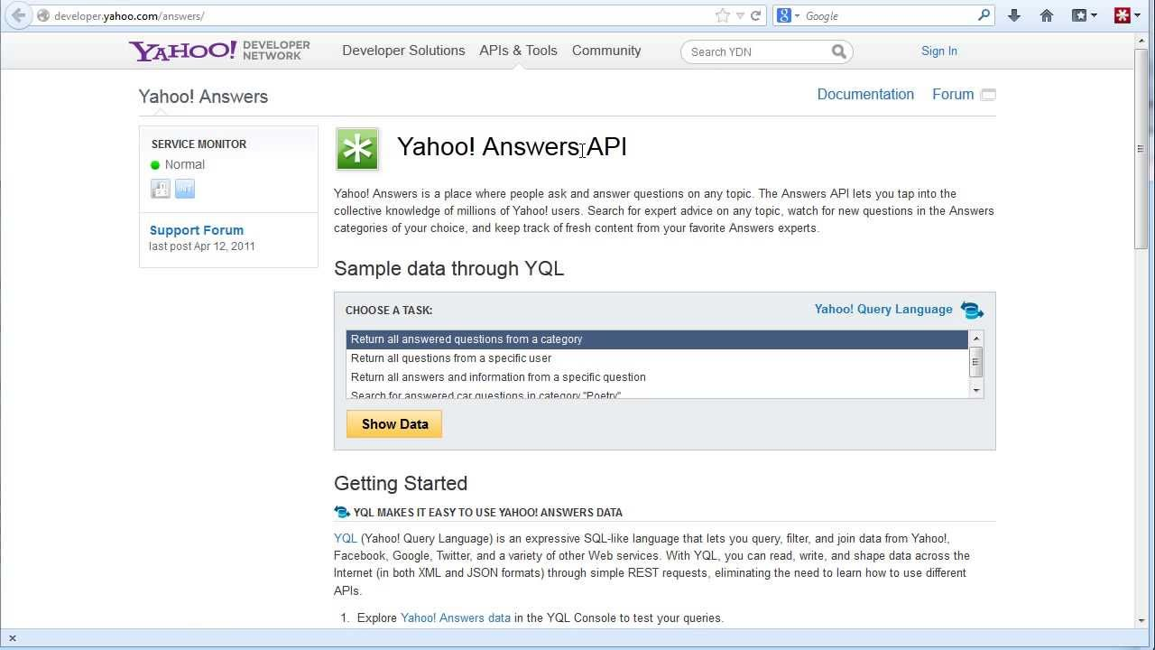 How to get a Yahoo API Key