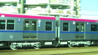 京王 新5000系と並走/多摩センター⇒永山の大接戦8 / Odakyu VS Keio