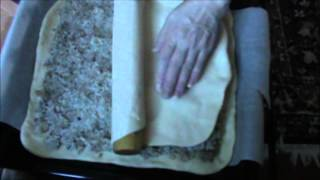 Пирог с рисом и сайрой