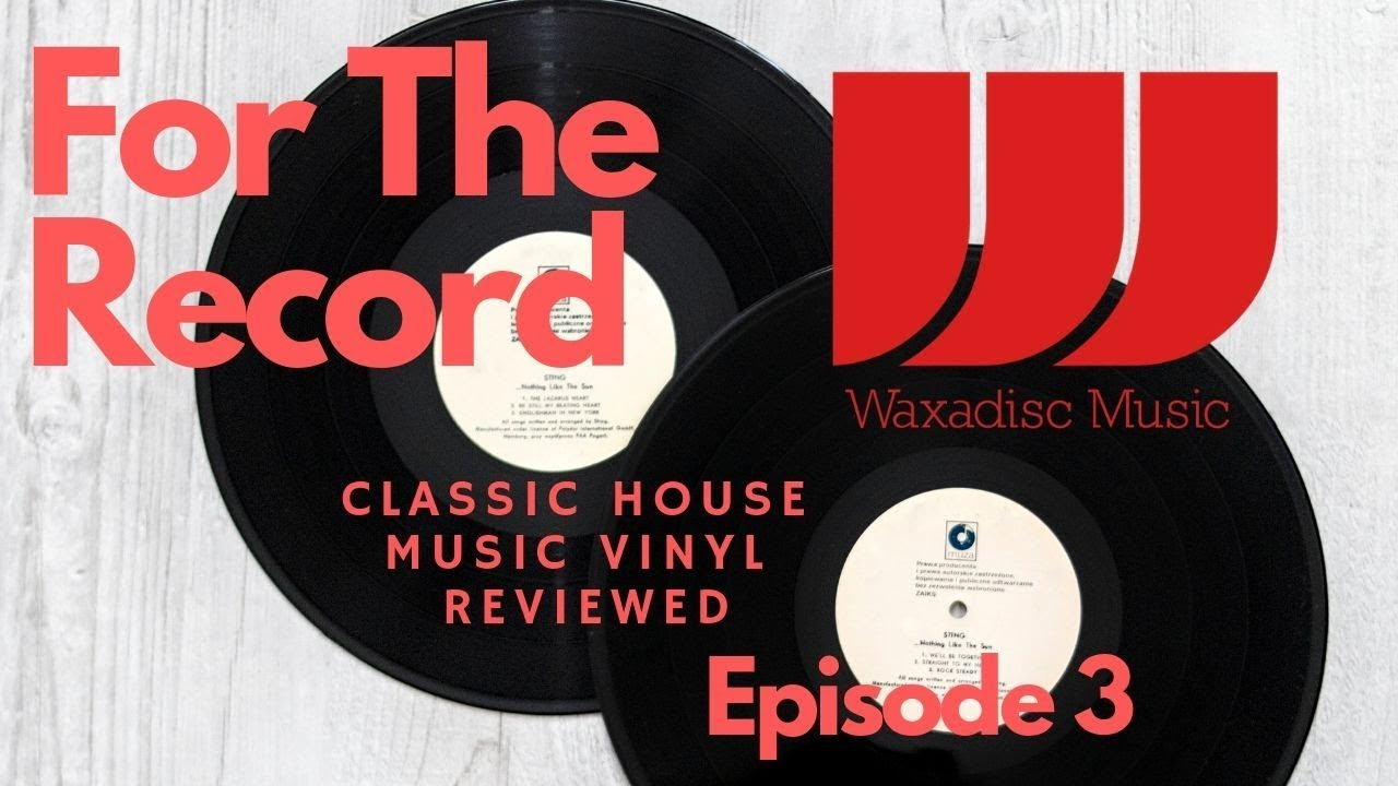 For the Record Ep 3 Classic House Music Vinyl 12