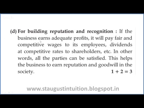 Live: Class 11 BUSINESS STUDIES Objectives Of Business
