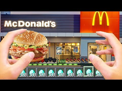 Realistic Minecraft  Realistic Mcdonalds in Minecraft! Ps3Xbox360PS4XboxOnePEMCPE