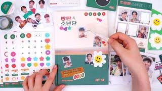 방탄소년단 2021 시즌그리팅 언박싱, 다이어리 표지 꾸미기 BTS 2021 Season's Greetings Unboxing, Decorating Journal Cover