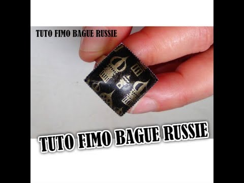 TUTO FIMO BAGUE RUSSIE /CABOCHON/ POUDRE METAL OR FIMO