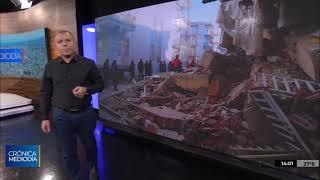 Un terremoto dejó 41 muertos y un rescate con temperaturas bajo cero