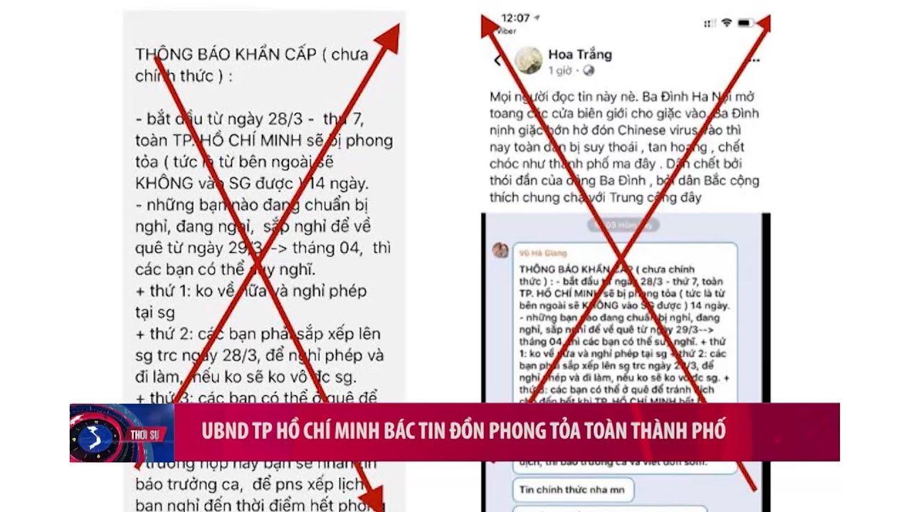 UBND TP Hồ Chí Minh bác tin đồn phong tỏa toàn bộ thành phố