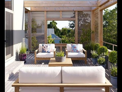 40 ideas de decoracion de terrazas de casas youtube for Modelo de terraza moderna
